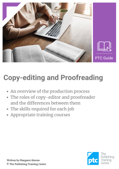 Copy-editing and Proofreading